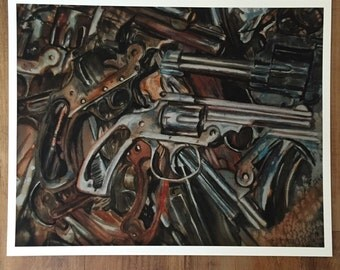 Rusted Guns print