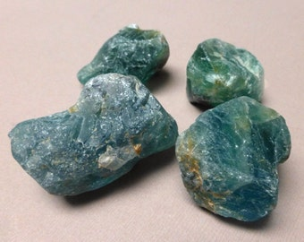 Rough Green Fluorite. Large. Gemstone Undrilled. Wire Wrapping Stone. Altar Stones. Talisman. Wicca Stones. 33mm - 45mm. One (1)