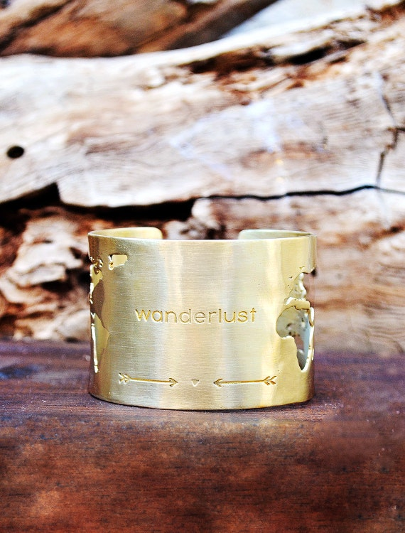 Love this travel themed cuff bracelet