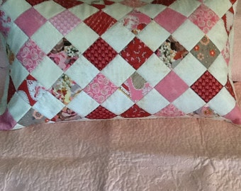 Decorative Bed Pillow Cover in Pinks