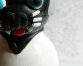 Panther. Order for April only please. Voodoo Doll. Hand Sculpted polymer clay figurine