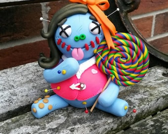 Betty lick-a-lot.  Voodoo Doll. Hand Sculpted Polymer Clay Figurine. was 16.95 now 15.50