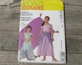 mccalls costume pattern 6794 childrens pattern 5 6 uncut harem girl genie gown