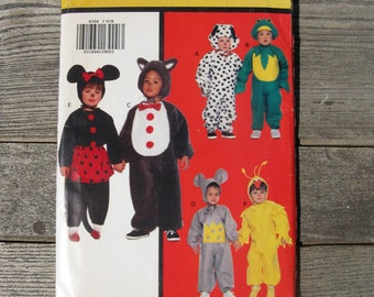 butterick 6304 toddlers children animal costumes uncut factory folded all sizes