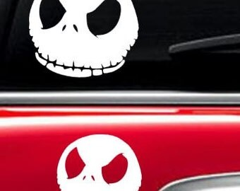jack skellington  inspired car decal macbook decal laptop decal macbook sticker ipad sticker