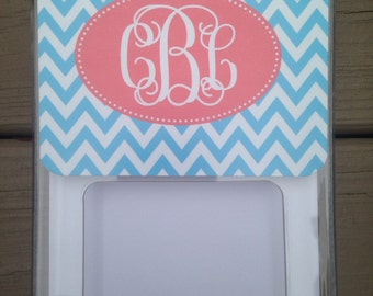 Personalized Monogrammed Note Pad With Paper