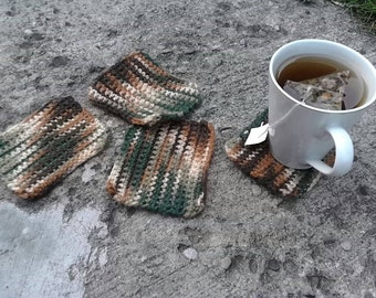 Crocheted Camouflage Coasters