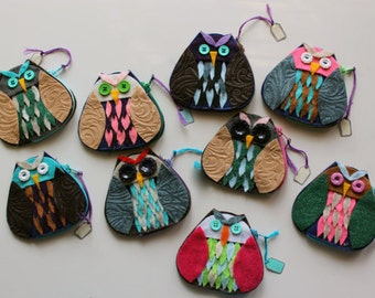 Wholesale Eco-friendly Felt Owl, Fox and Turtle Coin Purses