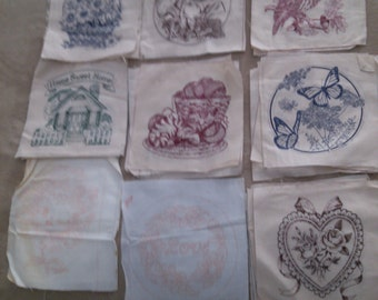3 Transfers to Embroidry, Fabric Paint or Stablizes they are for Quilting or Pillows