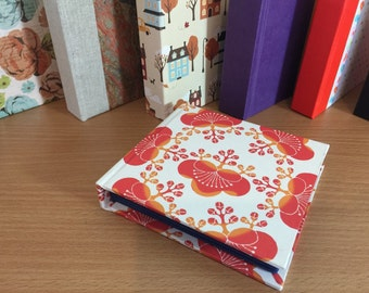 Red and orange floral Bitty Book