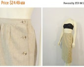 CLOTHING SALE Vintage Skirt 80s Liz Claiborne Long Pencil Skirt Side Buttons Modern Size Large