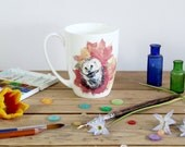 Hedgehog 'Autumnal Snuggles' Bone China Mug