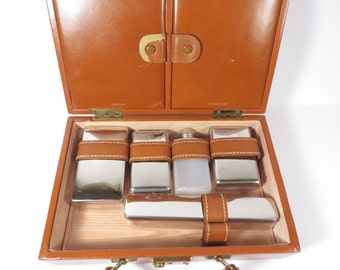 Mid Century Brown Shortrip Overnight Make Up Case - Vintage Shortrip Toiletry Train Case