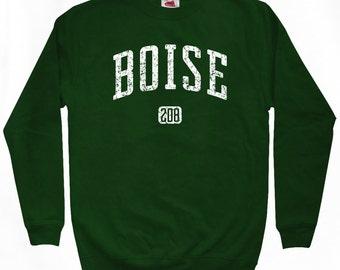 Boise 208 Sweatshirt - Men S M L XL 2x 3x - Idaho Crewneck - 4 Colors