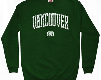Vancouver 604 Sweatshirt - Men S M L XL 2x 3x - Van City Crewneck - 4 Colors