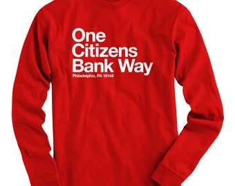 LS Philly Baseball Stadium Tee - Long Sleeve Philadelphia T-shirt - Men and Kids - S M L XL 2x 3x 4x - Philly Shirt - 4 Colors