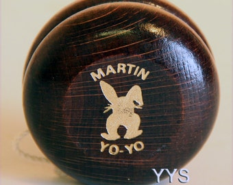 Vintage Collectible Bunny Martin Wooden Yo-Yo
