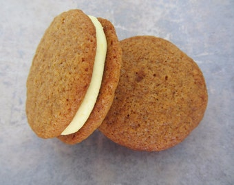 Gingersnaps, Ginger Lemon Cream Sandwich Cookie