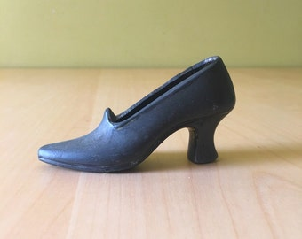 Vintage Metal High Heel Shoe Figurine Shoe Lover Shoe Crazy