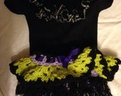 Crocheted Sweet Baby Witch Suit
