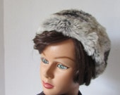 reserved/dherbertsonHAT vintage 1960s Chinchilla pill box style Hat