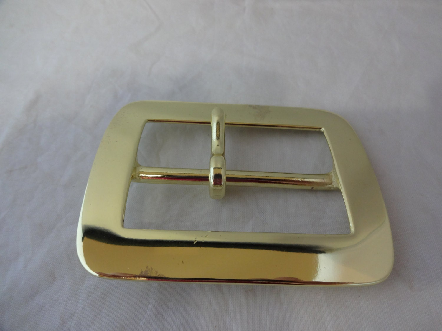 New Solid Brass Gun Belt Buckle High Polish 2 1 2 Inch