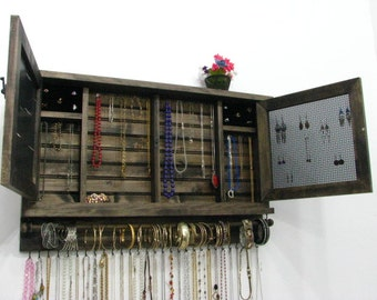 Wooden Jewelry Holder choose your own colors