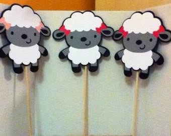 Cute Lamb Centerpiece Set of Three