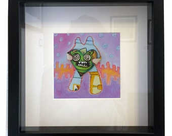 Monster Heart framed print 10x10