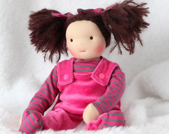 Emilie, inspired waldorf doll about 14 inches - rag doll