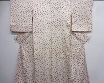 Hand stamped Folding Fans Silk Kimono