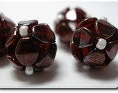 Burgundy Handmade Beads Made from Pinch Beads