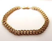 Big Givenchy   Goldtone  Double Link Necklace/Chain #320