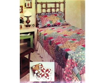 Patchwork Bed Cover, Quilt Pattern, Mccall's 3864, Pillows Pattern, Blanket Pattern,