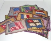 Tobacco Flannels Vintage Cloth Vintage Tobaccana  48 Stars US Flag Sewing Supplies
