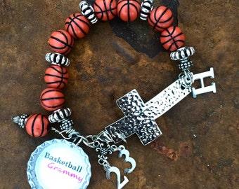 Basketball Mom Cross Bracelet