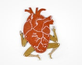 My Heart - Articulated Art Paper Doll by Dubrovskaya. Handmade and hand painted gift.