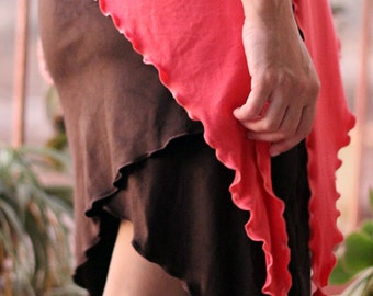 SALE GET 30% OFF Suede Stretchy Mini Skirt, Tribal, Burning Man festival pixie skirt, Fairy wear, Psy clothes