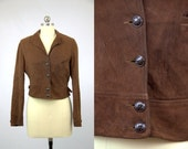 RESERVED 1930s Cinch Back Classic American Womens Rough Out Deerskin Crop Leather Jacket
