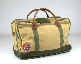 Vintage Gokey No. 4 Canvas & Leather Carry On Travel Bag