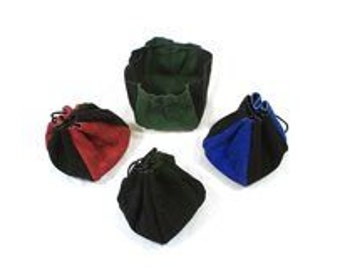 4 Panel Suede Leather Dice Bag