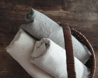 ORGANIC: tea towel _ unbleached linen, vegan ramia, organic cotton, rough wild silk or soft hemp