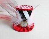 Down The Rabbit Hole - Alice In Wonderland - Mini Top Hat - Rabbit Ear Mini Top Hat - Top Hat Photo Prop