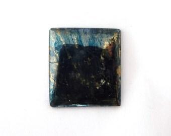 Metallic Blue Covellite Designer Cab Gemstone 24.9x27.3x3.5 mm 45.5 carats Free Shipping