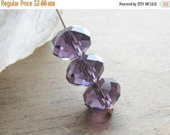 ON SALE Crystal Rondelle Bead Violet 12mm x 9mm QTY 12