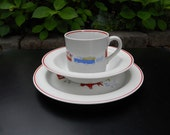 Arabia of Finland Child's Set Dishes Plate Bowl Cup - Unisex Design