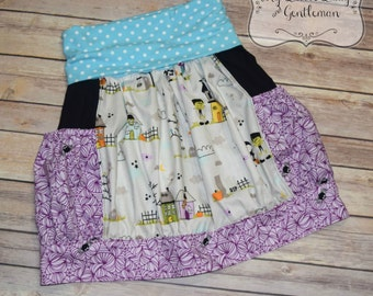 Halloween Skirt ready to ship girls size 7/8