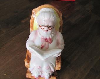 Vintage LEFTON Grandma Piggy Bank Retirement Fund