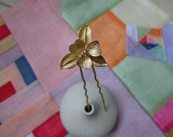 Premium Hanbok Hair pin Korean traditional accessorie for Hanbok _Rhodium flower #02