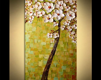 Original Breath of Summer Texture Painting on canvas by P. Nizamas ready to hang